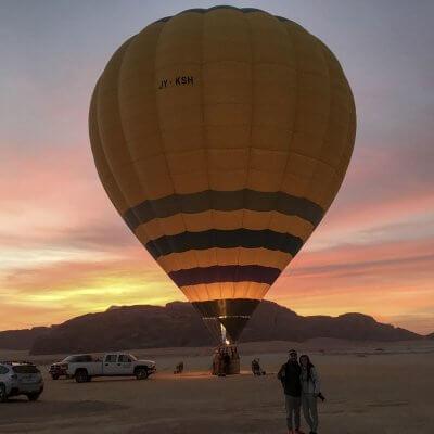 Vuelo en globo en Wadi Rum